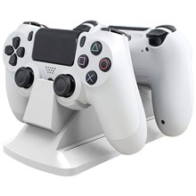 شارژر دوبل دسته   White PS4 Dual Charging Station SparkFox
