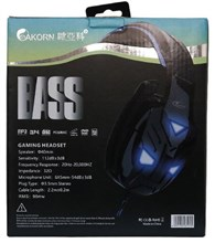 هدست گیمینگ  AKORN OK6000 Gaming Headset - Blue