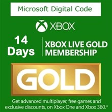 کارت طلایی 14 روز  XBOX LIVE GOLD Play online
