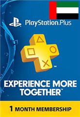PSN پلاس 1 ماهه UAE PLAYSTATION PLUS Play online