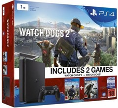 کنسول بازی PS4 Sony 1TB Watch dogs 2 Bundle
