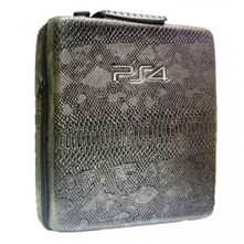 کیف ضدضربه PS4 Pro  Hard Case - Snake Leather Grey