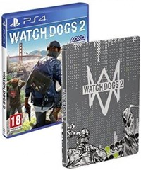 بازی  استیل PS4  watch dogs 2 steelbook