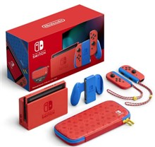 کنسول بازی نینتندو سوییچ باندل Nintendo Switch Mario Bright Red and Bright Blue Edition