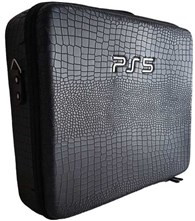 کیف ضد ضربه پلی استیشن5 PlayStation 5 Hard Case Ps5 - Soft Black leather