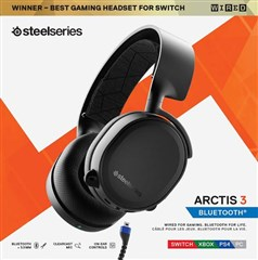 هدست مالتی پلتفرم گیمینگ SteelSeries Arctis 3 Bluetooth  Gaming Headset  Nintendo PC, PS5/PS4, Xbox Series X|S