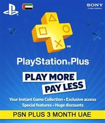 PSN پلاس 3 ماهه UAE PLAYSTATION PLUS Play online