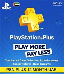 PSN پلاس 12 ماهه UAE PLAYSTATION PLUS  Play online
