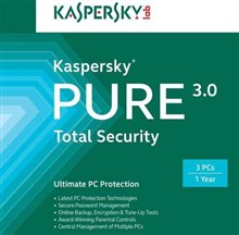 لایسنس Kaspersky Pure 3.0 - 3 pc