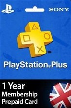 PSN پلاس 12 ماهه UK PLAYSTATION PLUS