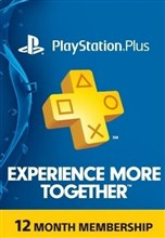 PSN پلاس 12 ماهه US PLAYSTATION PLUS