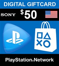 PSN امريكا 50 دلاري PlayStation Network