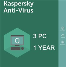 لایسنس Kaspersky Anti-Virus 2019 -3 PC