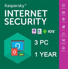 لایسنس Kaspersky Internet Security  Multi-Device 2018-3 PC