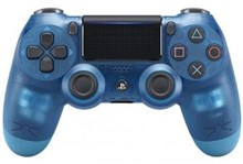 دسته بازي كريستالي آبي PS4 DUALSHOCK 4 CRYSTAL BLUE