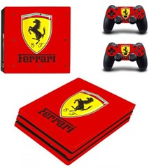کاور اسکین PS4 - SKIN STICKER PS4 PRO FERRARI RED