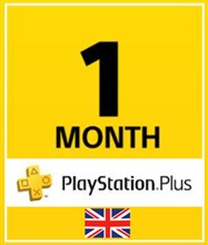 PSN پلاس 1 ماهه UK PLAYSTATION PLUS